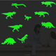 Creative Luminous Wall Decorative Dinosaur Sticker Glow in the Dark Light Decor Removable Vinyl Decals Mural Baby Nursery Room