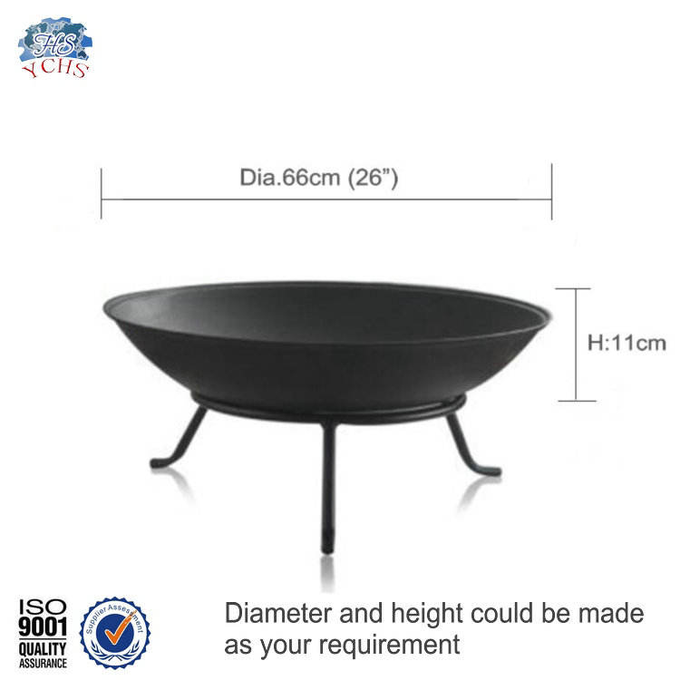 Factory supply wholesale cast iron fire bowl