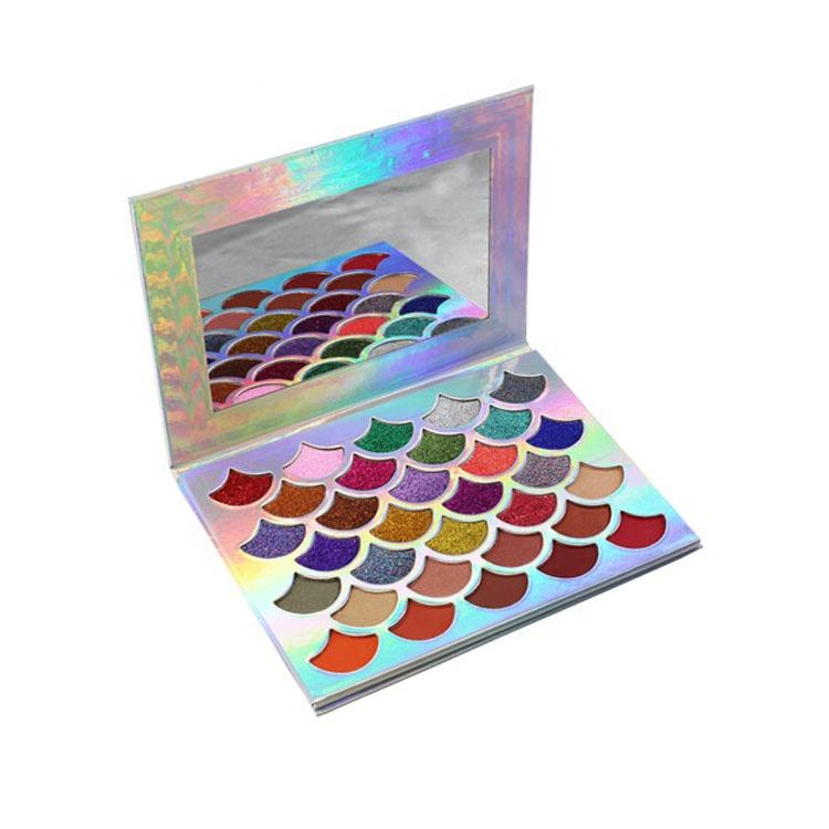 New Arrival 32 Colors Holographic Glitter Powder Mermaid Eyeshadow Palette