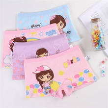 2-10 Years Old Kids New Design Girls Panties 100% Cotton G-string Healty Boxer Shorts Kids Underwear