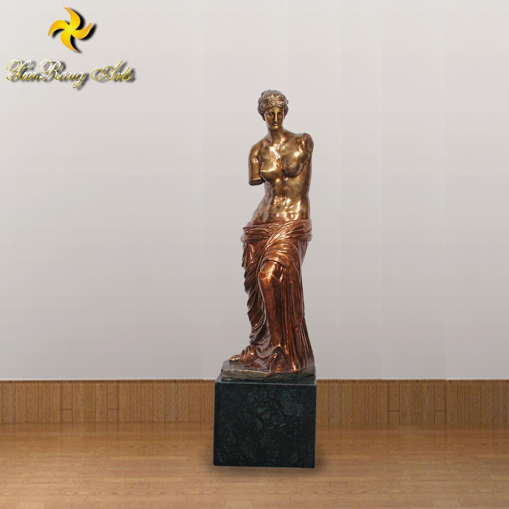 Venus Dali Hot Cast Hand Made Marble Base Figurine Art Bronze Sculpture Space T
