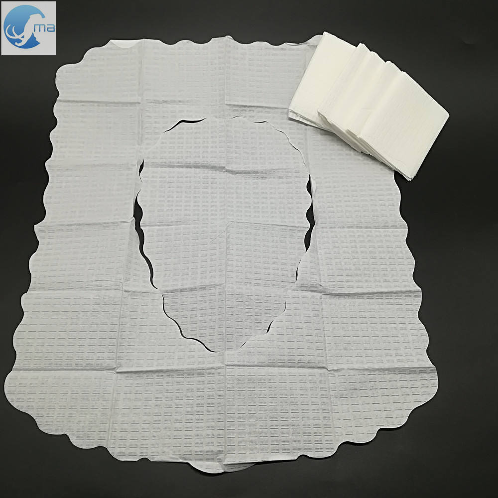 Household embossed disposable paper toilet seat cover 2-ply tissue paper flushable