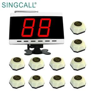 SINGCALL restaurant cafe table bell system pager system wireless calling