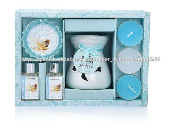 candelita de cerámica <span class=keywords><strong>calentador</strong></span> de tarta <span class=keywords><strong>quemador</strong></span> de aceite con set de regalo de embalaje