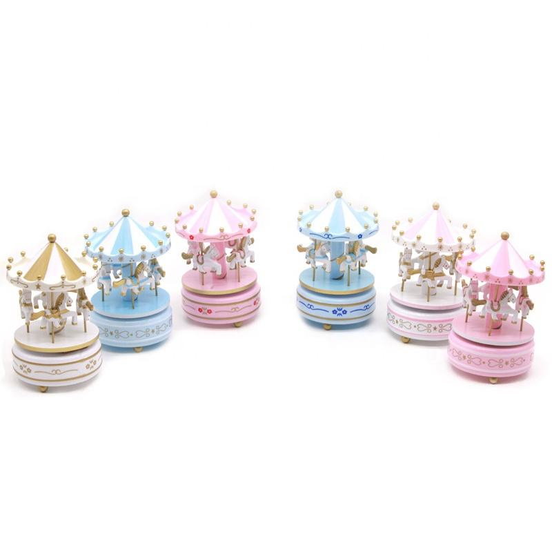 Carousel Music Box For Baby Shower Themes Kids Gift Hot Sale In Amazon