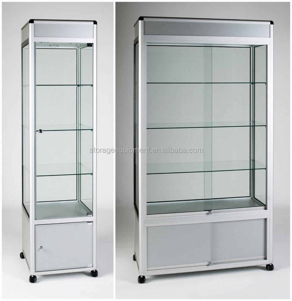 Glass showcase& glass display cabinet for sale