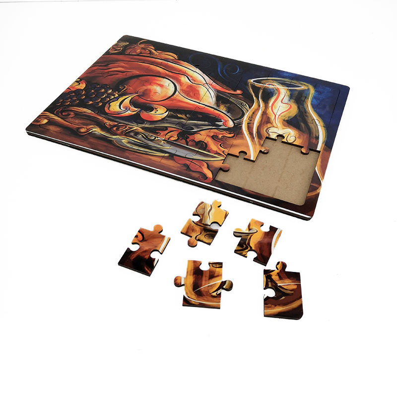 Sublimation blank custom puzzle A4 size Sublimation Wooden Jigsaw 50 pieces Adult puzzle Jigsaw