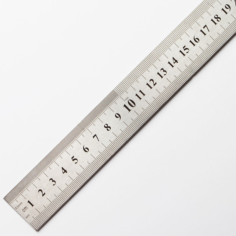 Double Sided 1M 100cm 40inch Stainless Steel Straight Metal Ruler