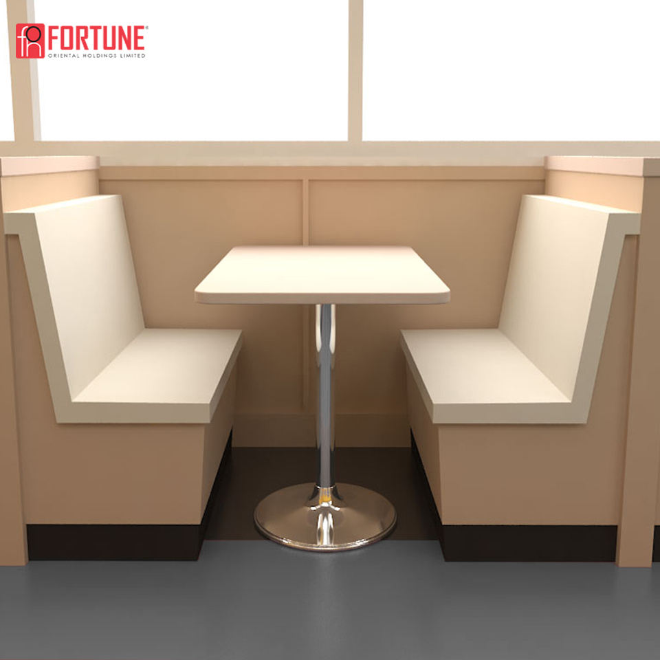Diner Furniture Coffee Shop Bar Bench Booth Table Seating (FOH-XM33-475)