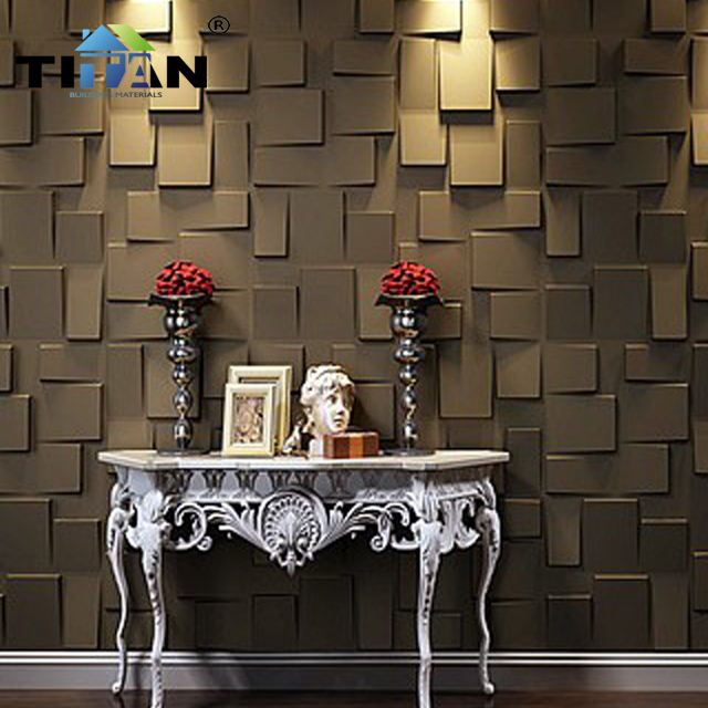 Modern colored 3d texture Wall Panel & pvc wall panels