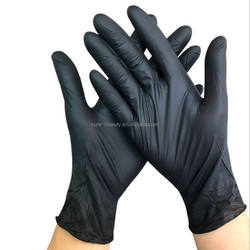 Private Label Tattoo Gloves Nitrile Body Art Waterproof Blac