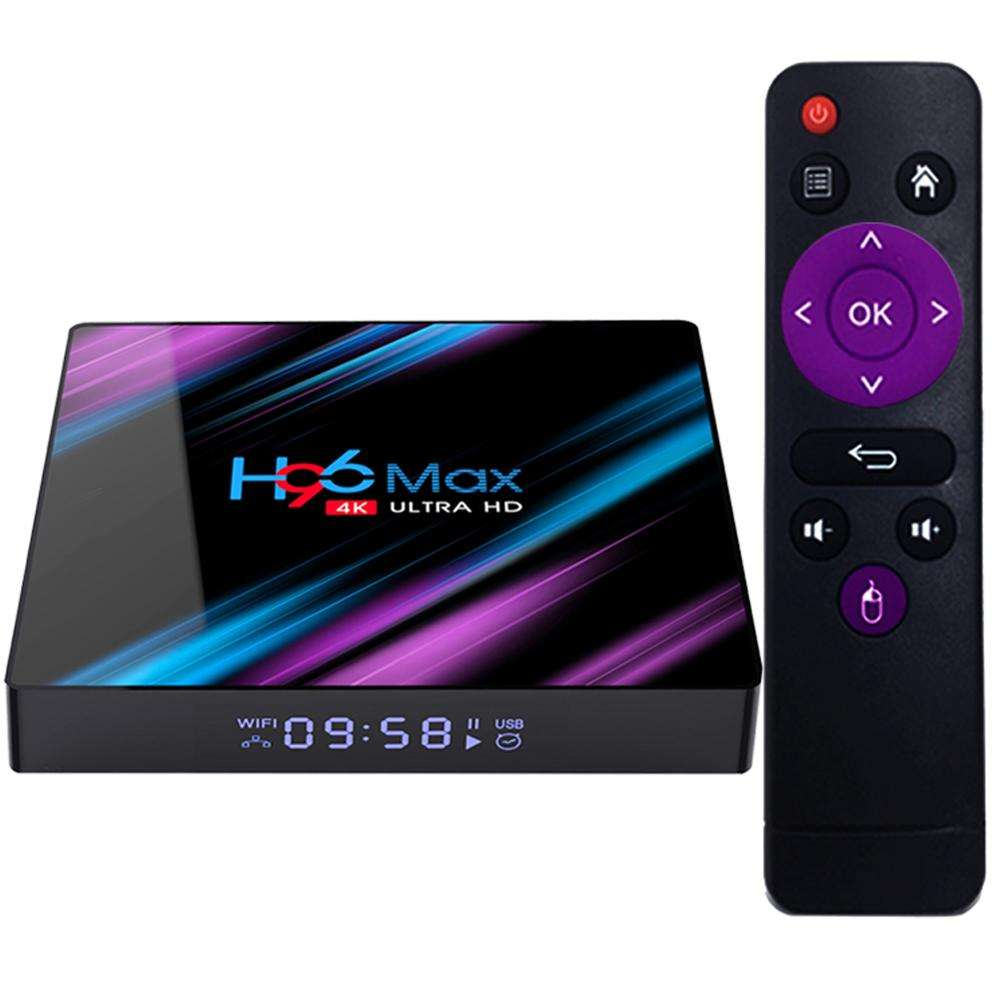 Son teknoloji H96 max RK3318 4k HDR ram 4gb ddr3 İnternet android 9.0 <span class=keywords><strong>tv</strong></span> seti top box
