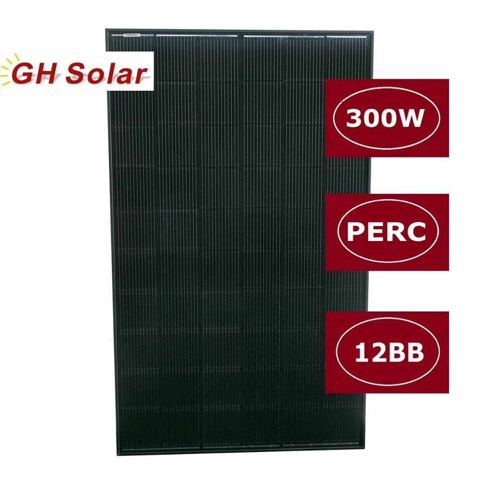 All Black 12BB Solar Module 300W/30V TUV Approved Solar Panel Ready to Ship in Europe
