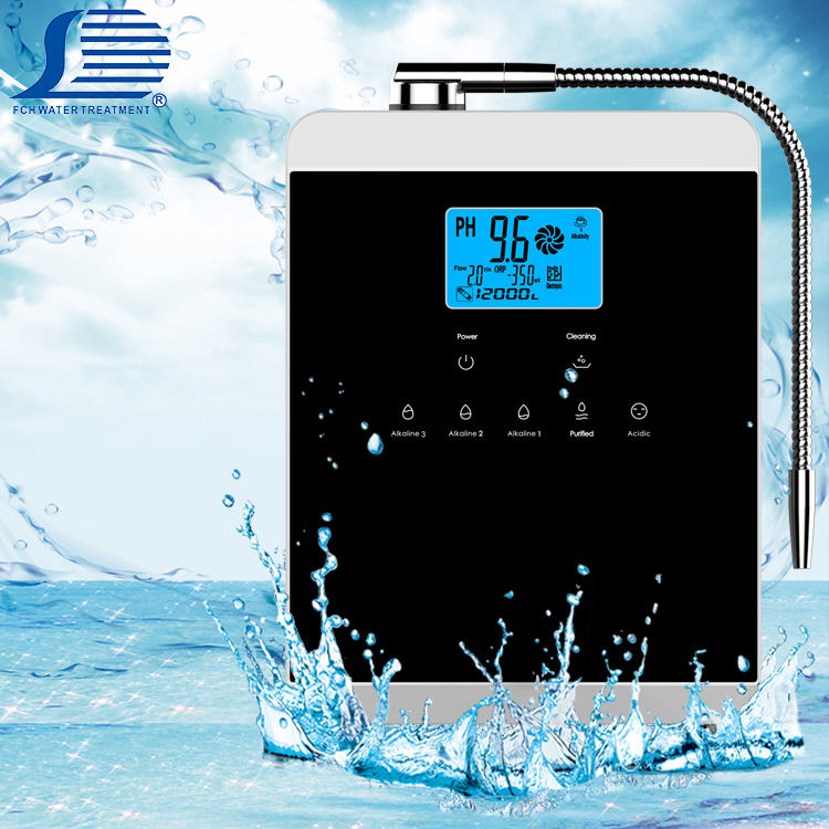 5 7 11 plates alkaline water ionizer machine with an efficient power supply system