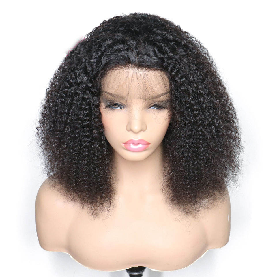 9A 급 quality black afro 변 태 곱슬 lace wig 150% (high) 저 (density 처녀 브라질 real 인간의 hair lace front wig