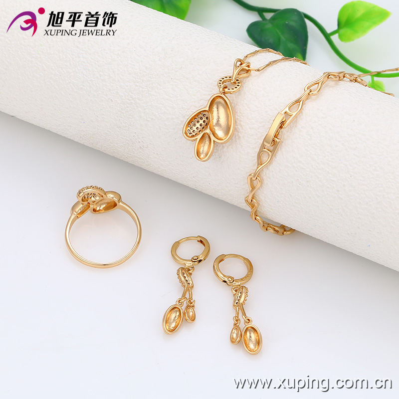 63238 Xuping wholesale chinese costume jewellery elegant bridal gold jewelry set providing free sample