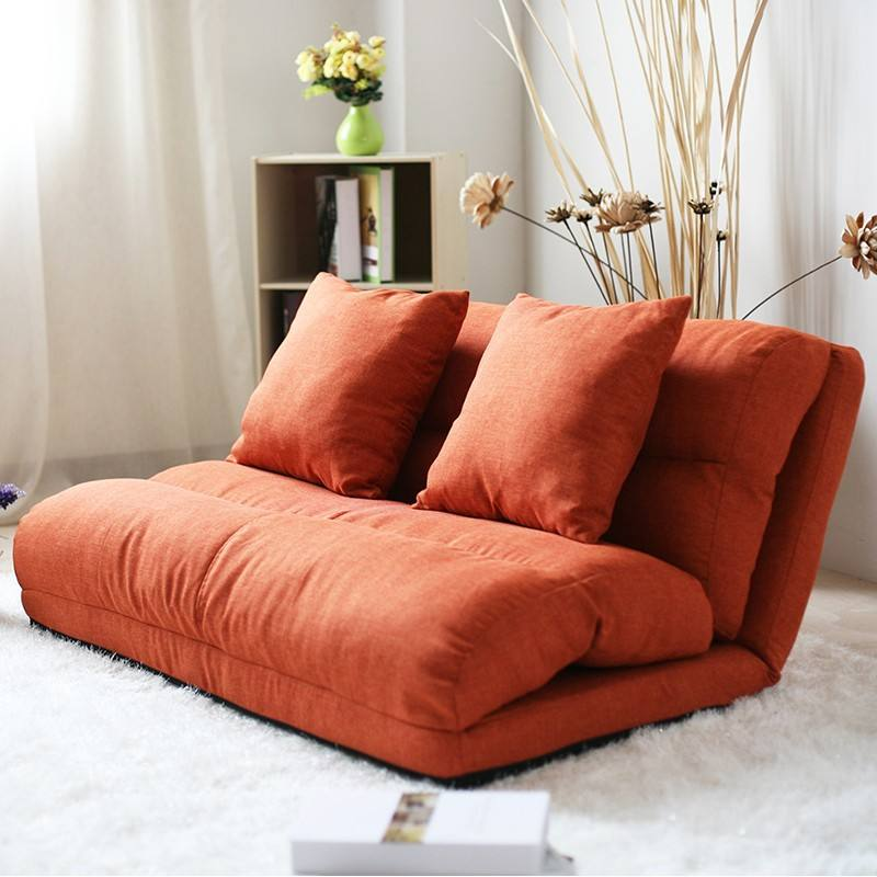 Korean style fabric folded sponge floor sofa with 5 positions adjustable backrest/sofa bed/hall sofa/