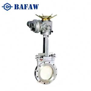 China supplier pn16 cast steel flanged electric actuated gate valve