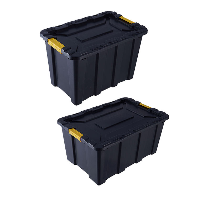 100L Heavy Duty Plastic Storage Box with Lid Lock the Body