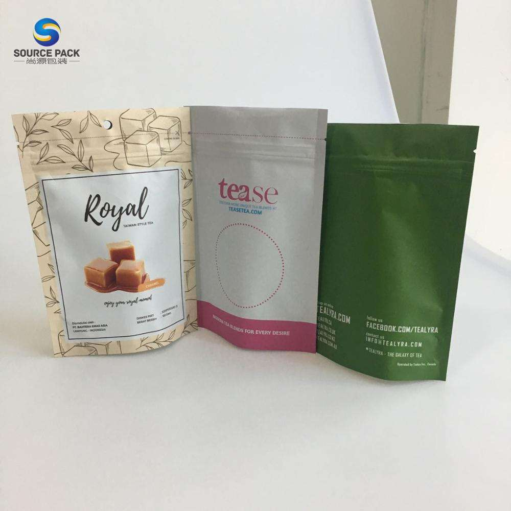 Factory Price Food Grade Material stand up pouch Cone Shaped Moringa Powder Plastic Bag