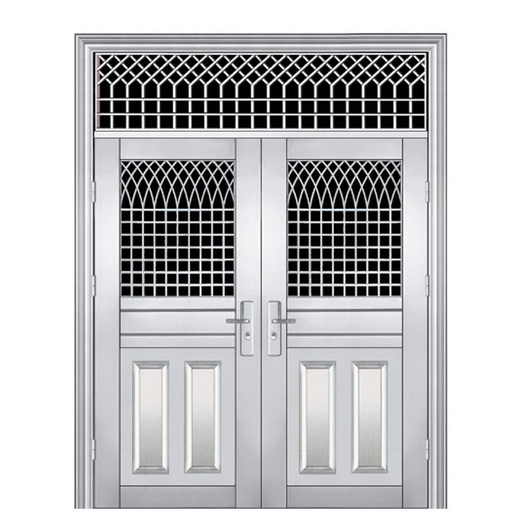 Stainless Steel Security Door Modern Design Corrosion Resistant Front Doors for Houses