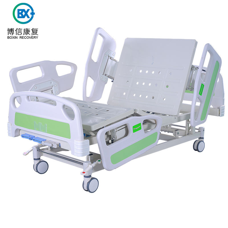 Luxury Three Manual Crank Care Bed Most Comfortable Variable Height Medical Hospital Bed For Sale