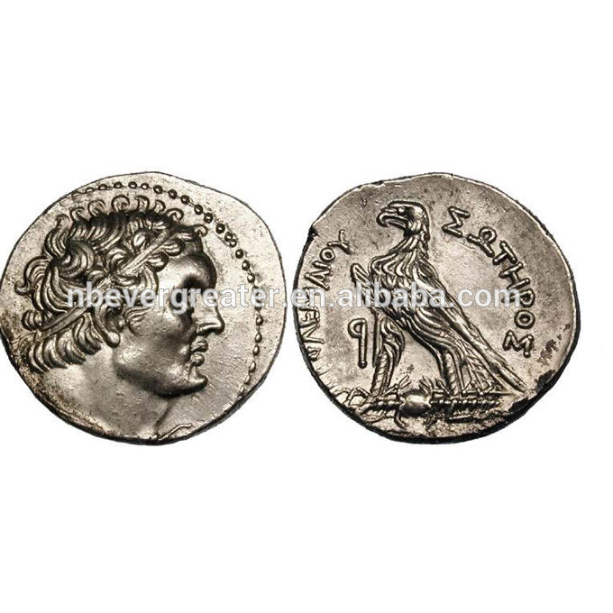 Custom old copper coins, ancient greek coins