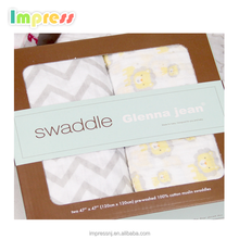 "Hot sale cheap swaddle blanket baby 47"" x 47"" 2pcs organic baby blanket muslin"