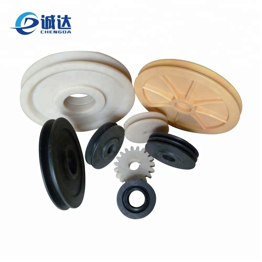 plastic nylon timing belt pulley / plastic wire rope lifting sheave