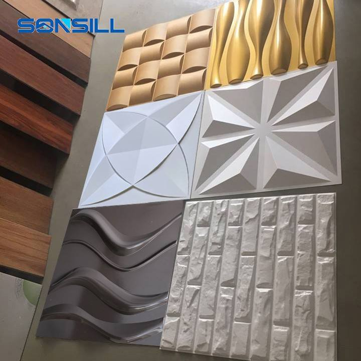 Panel decorativo para pared de pvc 3D, arte