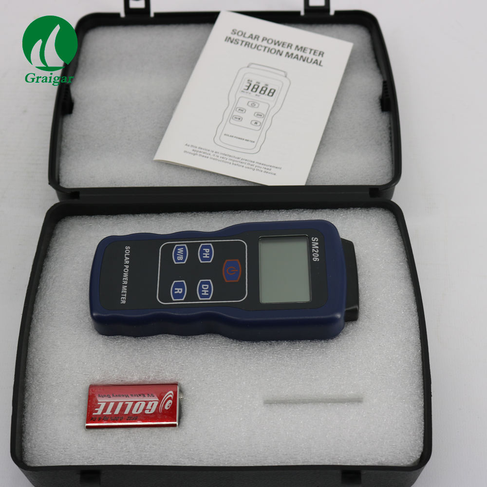 Solar Power Meter SM206 for solar research and solar radiation measurement