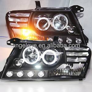 2003-2008 year Pajero Montero V73 V75 V76 V77 V78 LED Angel Eyes Head Light with Bi Xenon Projector Lens LF