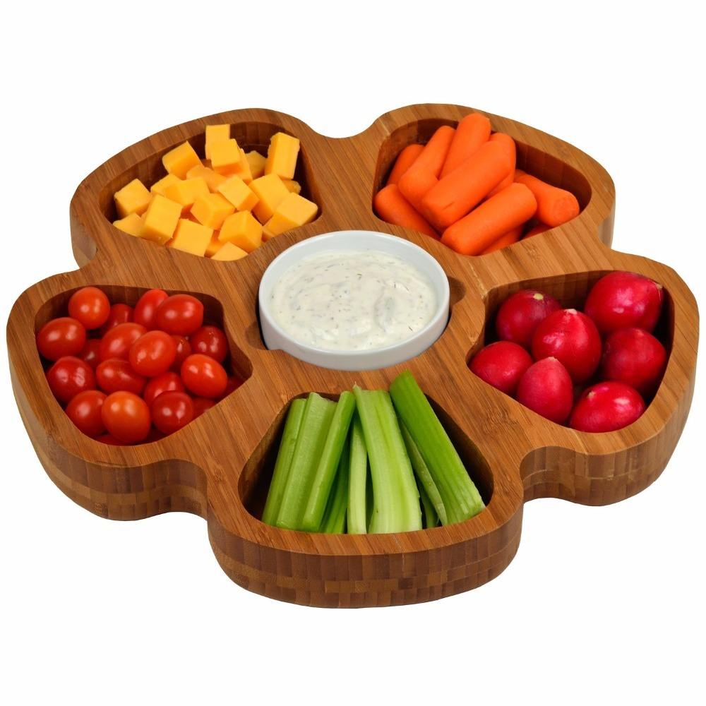multifunction bamboo platter fruit tray cheap bamboo trays with different design and style for customers