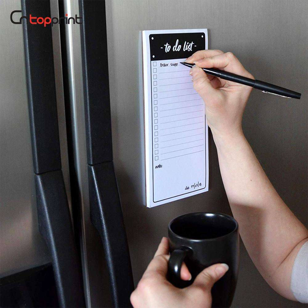 Magnetic Shopping List Fridge Notepad with Pen