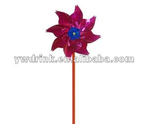 Promotional plastic kids RED toy windmills