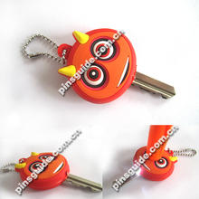 Promotion 2013 Most Popular Soft PVC 2D Key Cover With Led Light