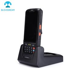 Multifunctional wifi 3g bt pda,portable android pda,4g android pda scanner handheld terminal barocde scanner with cradle battery