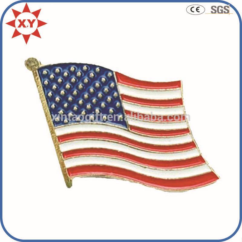 hot vendas de esmalte emblema do metal com forma de bandeira <span class=keywords><strong>nacional</strong></span>