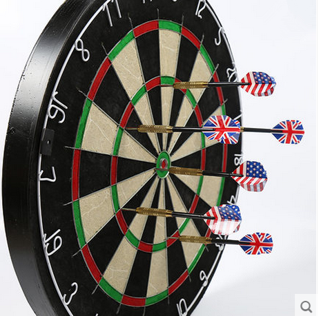 Professional Safety Dart Boards Wholesale Sisal Bristle fiber Dart board with Customized