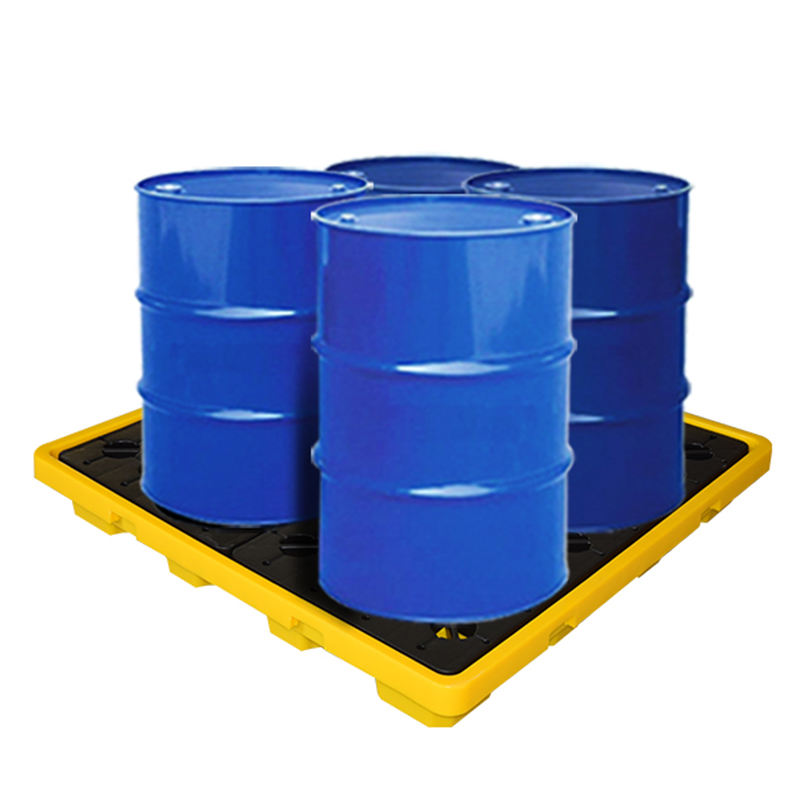 Low Profile Spill containment 4 drum bunded pallet