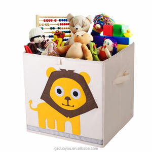 Household fabric kids toys folding storage decorative storage containers box