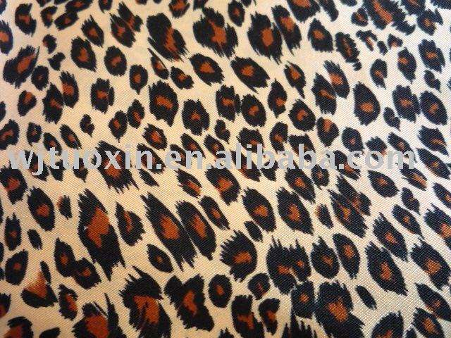 printed twisting satin fabric/animal printed satin