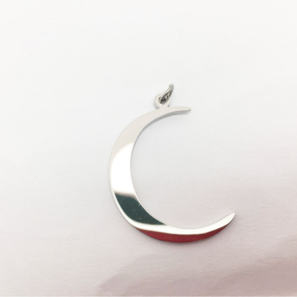 Discount jewelry moon charm size as 30mm*1.5mm