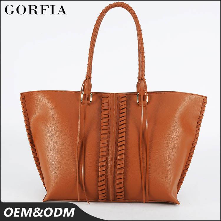 2017 Высший сорт леди PU кожа сумка обычный верблюд коричневый цвет женская мода сумки