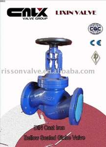 DIN Cast Iron Bellow Sealed Globe Valve