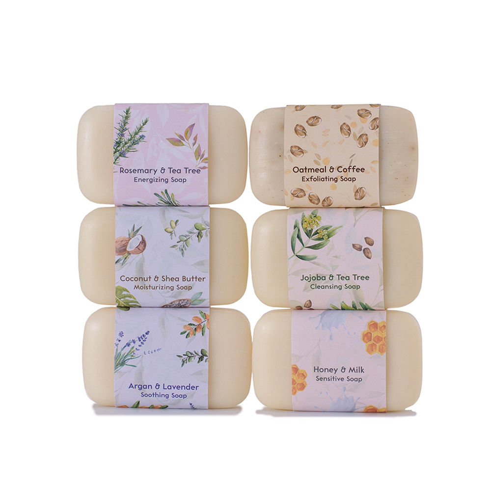 100% Natural Organic 6 Piece Moisturizing Body Wash Soap Bar