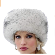 Women's Faux fur Winter Warm Russian Style Cossack Fluffy Ball Ski Cap Ear Warmer Hat