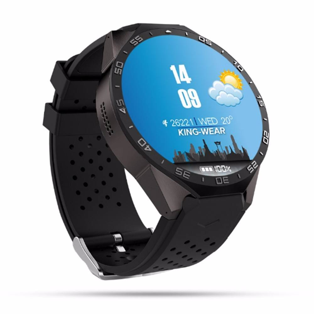 3G חכם שעון & שעון 3G אנדרואיד WiFI Smartwatch KW88 & בזמן אמת קצב לב חכם שעון