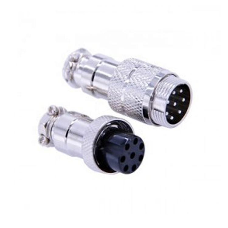 Aviation Application Solder Cable Electrical Mini Plug Connector 4 Pin 8 Pin Gx12 Gx16 Connector