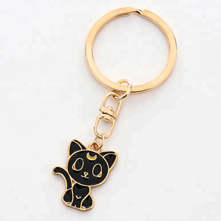 cute cartoon key ring kitty keyholder color doll metal key ring